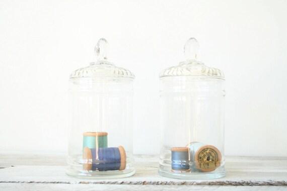 Vintage Apothecary Jar Set