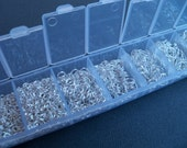 Jump Rings, Silver Plated, Boxed Kit, 1500 pieces