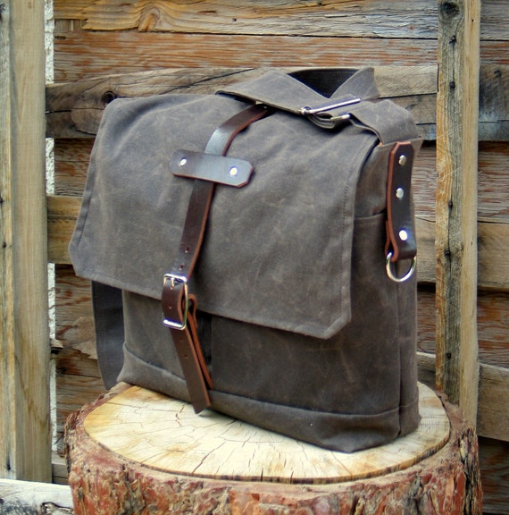 Reserved for adclifford The Field Bag in Brown Waxed Canvas