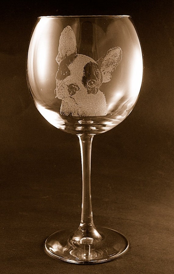 French Bulldog Wine Glass