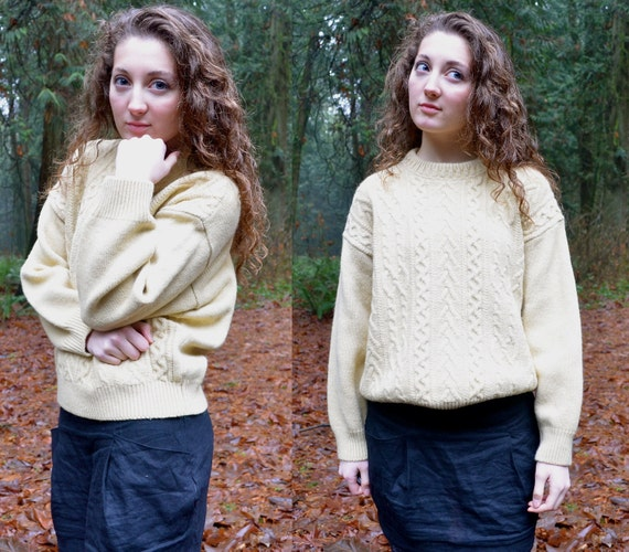 Vintage Frosty Yellow Sweater Made in Italy S