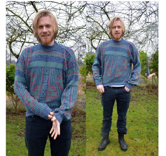 Vintage Tribal Instinct Sweater L