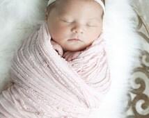 Light Pink Mini Ruffle Baby Blanket-READY to SHIP