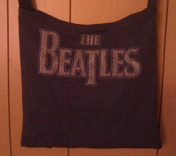 Beatles Messenger Bag upcycled tshirt