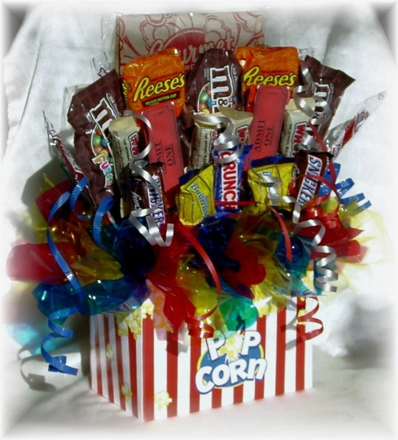 Movie Night Bouquet With Drinks: Items Similar To Movie Night Candy Bouquet On Etsy