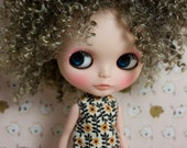 "12"" Goodyblythe Hair Wig for Blythe Grey Afro Curl W265"