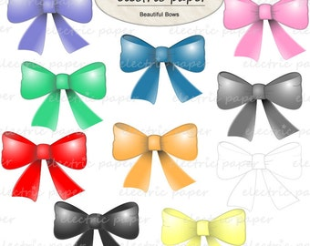 Beautiful Bows Clip Art - instant download