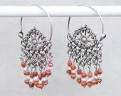 NINA LAYAWAY PAYMENT - Turkmen anitque silver hoop earrings