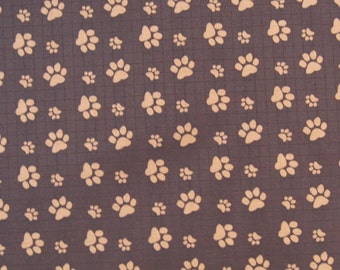 "W059A -Vinyl Waterproof Fabric - Footprint  - Deep brown - 27""x19""(70cmX50cm)"