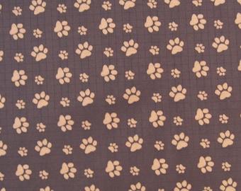 "W059A -Vinyl Waterproof Fabric - Footprint  - Deep brown - 27""x19""(70cmX50cm)"