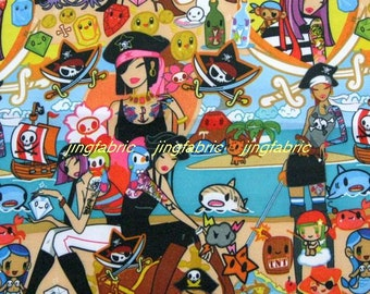 "W118A - Vinyl Waterproof Fabric - Cartoon Characters - girls  -  27""x19""(70cmX50cm)"