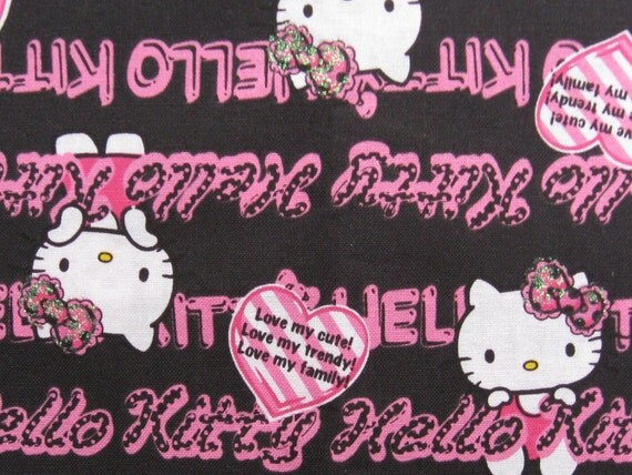 C103 -  1 meter  Cotton Fabric - Hello Kitty
