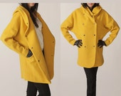 Hoodie yellow winter coat,long sleeves jacket,70% ,Immediate shipping FM061-Size L