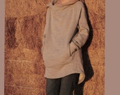 Hoodie sweater/Fleece/Knitted cotton sweater pull over top shirt Hood Hoodie/Spring sweatshirt /pullover FM125