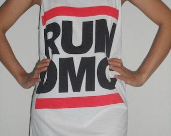 RUN DMC  lady  Singlet Tank Top T-Shirt Mini Dress