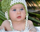 Organic Cotton Girl's Flower Hat Photo Prop
