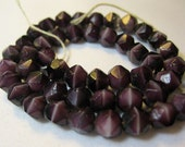 SALE Lot of 48 Vintage 1950s Purple Faceted Glass Beads
