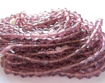 Vintage Violet Crystal Bicones, lot of 30