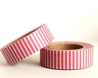 Pink Vertical Stripes Washi Tape