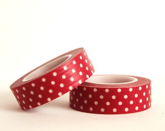 White Dots on Red Washi Tape