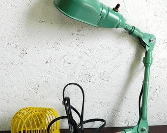 Vintage Machine Age Adjustable Lamp