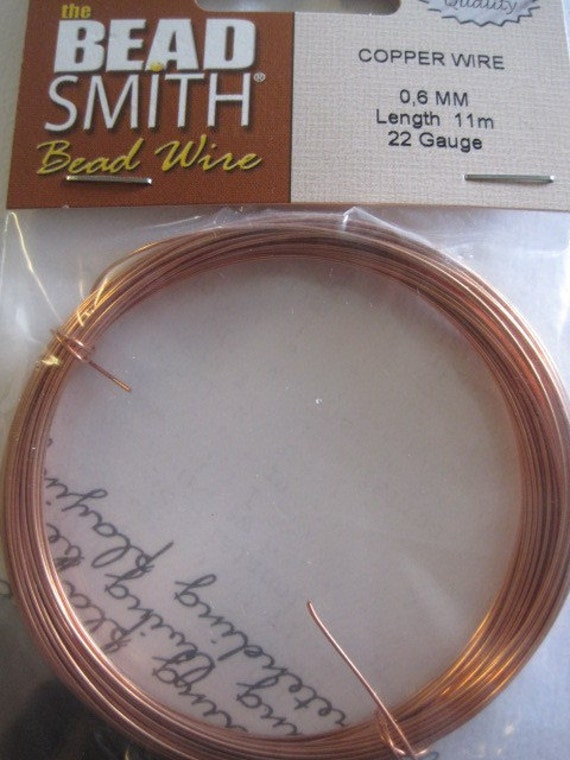 Bead Smith Copper Bead Wire 22 Gauge Jewelry Supply