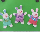 Set of 3 Foam Bunny Stickers