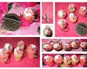 Bubblegum n Sparkle Cupcake Charms