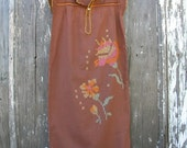Cotton Beach Combing Dress or Night Gown- vintage-small