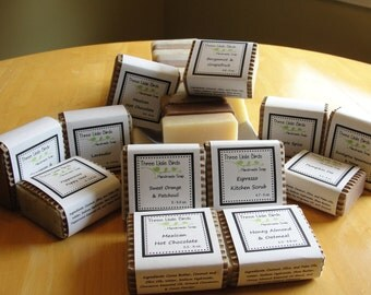 Custom Soap Set, You Pick Any 5 Bars of Handmade, Cold Process Soap, All Natural Shea Butter Formula