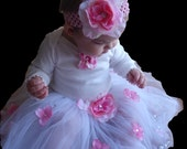 1st birthday outfit- 1st birthday dress- birthday tutu- 3 piece set Girls Baby