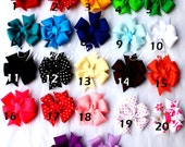 22 Hair Bows- Baby Bow Package- 22 vibrant colors by Violet's Velvet Box