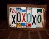 XOXOXO- Folk Art License Plate Art