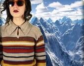 Striped Sweater Medium Hipster