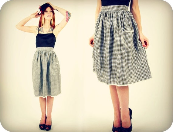 Checkered Skirt Rockabilly Small