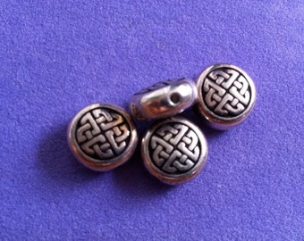 Silver ethnic celtic or asian beads