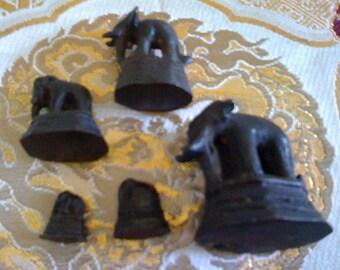 Rare Antique iron elephant opium weights- best offer