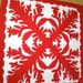 RESERVED for Nancy - Red and White Hawaiian Quilt Baby Blanket Wall Hanging-TREASURY ITEM