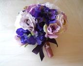 Violet, Purple, Lavender and Lilac Bridal Bouquet