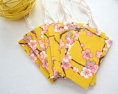 Yuzen Pink & White Plum Blossoms Gift Tags - Set 10