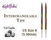 Options Interchangeable Harmony Wood Circular Knitting Needle Tips by Knit Picks - US 9 (5.50mm)