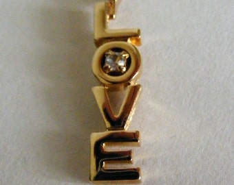 Vintage Goldtone Love Charm