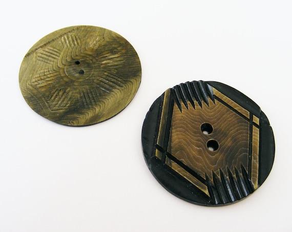 Large Vintage Art Deco Buttons