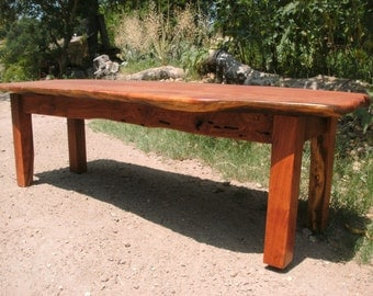 Hand made coffee table with reclaimed Mesquite wood