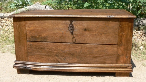Antique French Hope Chest - 18th Century - Oak