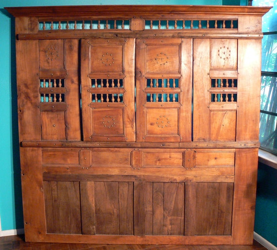Antique French Shutter Panel - Circa 1850 - Restored