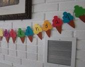 happy birthday ice cream cone banner