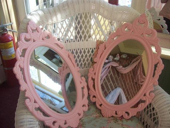 Shabby chic, baroque, boudoir wood cottage chic,Wedding, Nursery baby girl, Wedding prop, shabby, cottage chic wood mirror