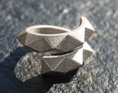 SPIN 360 - Sterling silver faceted modern geometric 3D ring