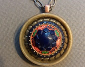 Vintage Button Necklace, Bohemian Star
